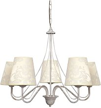 Jamel 5-Light Shaded Chandelier Lily Manor