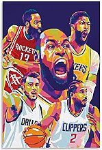 James Harden 3 Canvas Art Poster and Wall Art