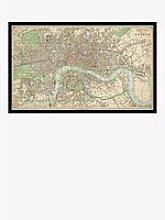 James Reynolds - 1847 Map of London Framed Print,