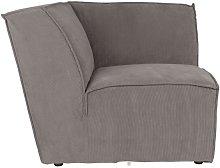 James Rib Grey sofa corner piece