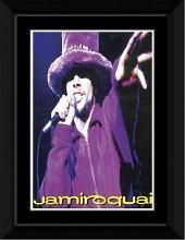 Jamiroquai - Purple Framed and Mounted Print -