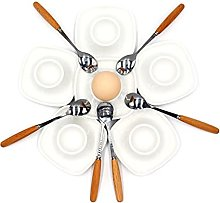 JAMOR Square Egg Tray Set White Porcelain Egg Cup