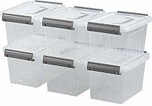 Jandson Small Clear Storage Box, Latching Bin