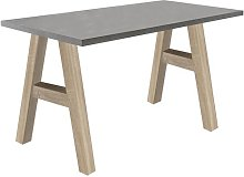 Janine Desk Zipcode Design Colour: Grey/Beige,