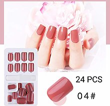 Janly Clearance Sale 24PCS Fake Nails Reusable