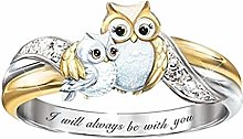 Janly Clearance Sale Womens Rings, Fashion Owl