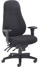 Jansen 24 Hour Fabric Operator Chair (Black),