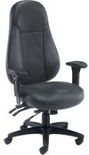 Jansen 24 Hour Leather Faced Operator Chair,