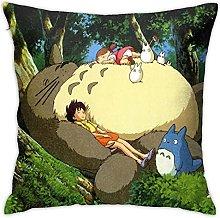 Japan Anime Totoro Square Pillowcase Soft Plush