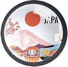 Japan Mount Fuji Cabinet Door Knobs Handles Pulls