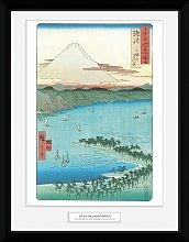 Japanese Art Hiroshige The Pine Beach Framed Print