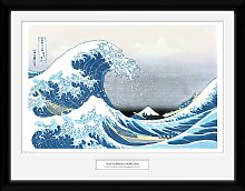Japanese Art Hokusai Great Wave Framed Print Wall