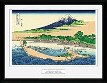 Japanese Art Hokusai Shore of Tago Bay Framed