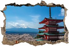 Japanese Building Wall Sticker East Urban Home