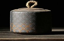 Japanese Ceramic Tea Caddies Vintage Porcelain Tea