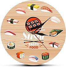 Japanese Cuisine Sushi Tasty Food Wall Clock