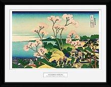 Japanese Hokusai Goten Yama Hill Framed Print