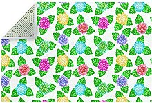 Japanese Pattern Floral Green Purple Yellow Red
