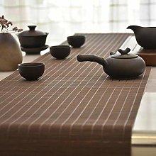 Japanese Style Bamboo Silk Tea Mat Table Runner,