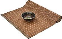 Japanese Style Bamboo Tea Mat, Retro Heat