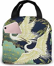 Japanese Style Crane Lunch Bag Reusable Insulated
