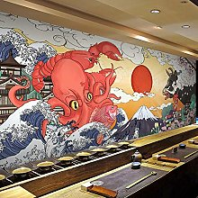 Japanese-Style Hand-Painted Ocean Wave Ukiyo-e
