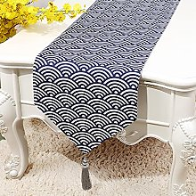 Japanese Tea Set Table Runner, Simple Sector Table
