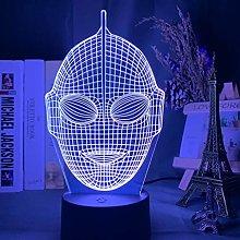 Japanese TV Show Cool Ultraman Head Hologram 3D