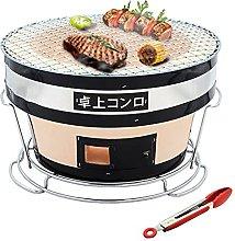 Japanese Yakatori Charcoal Grill, Round Ceramic