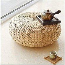Japaness Style Straw Futon Knitted Round Seat
