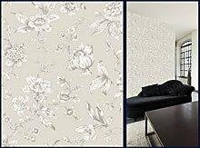 Jardin Toile De Jouy Wallpaper Grey 173101