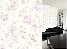 Jardin Toile De Jouy Wallpaper Pink 173112