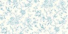 Jardin Toile De Jouy Wallpaper Teal 173113