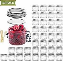 Jars with Glass Lids Jar Spice Mason Oz Small Mini