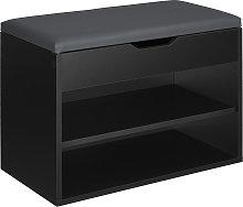 Jasmina Shoe Storage Bench - black