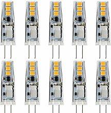 JAUHOFOGEI 10pcs G4 Capsule 1W LED Bulbs, 12V AC