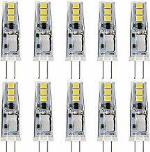 JAUHOFOGEI 10pcs G4 Capsule 1W LED Bulbs (Cool