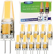 JAUHOFOGEI 10pcs G4 Capsule 2W LED COB Bulbs, 12V
