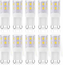 JAUHOFOGEI 10pcs G9 Capsule LED Light Bulbs, 2W