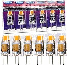 JAUHOFOGEI 6pcs G4 Capsule 1W LED Bulbs, 12V AC