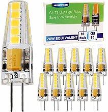 JAUHOFOGEI G4 LED Bulbs 12V-24V ac dc Cool White,