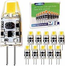 JAUHOFOGEI G4 LED Bulbs 12V-24V ac dc Cool White