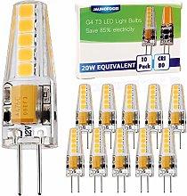 JAUHOFOGEI G4 LED Bulbs 12V-24V ac dc Warm White,
