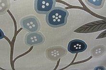 Java Contempary Floral Cotton Blue Designer