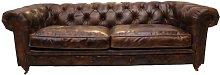 Javon Leather 3 Seater Chesterfield Sofa Williston