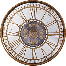 Jayden Wall Clock In Antique Brass