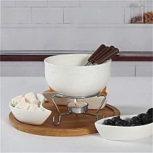 JAYLONG Ceramic Fondue Set, Chocolate Cheese