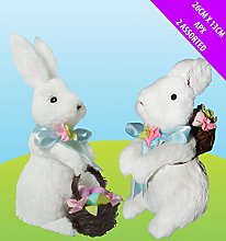 Jaymark Pack Of 2 White Easter Bunnies Bunny