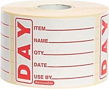 Jaytrade UK Ltd Square Red Food Date Label/Day