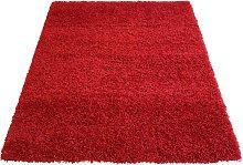 Jazz Plain Shaggy Rug - Red - 120 x 170cm